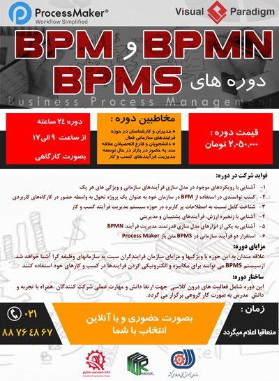 دوره جامع مدیریت فرایند های کسب و کار BMPS + BPMN + BPM